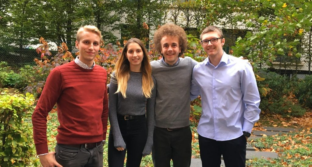Four of BuSI Business Analysis interns from ICHEC